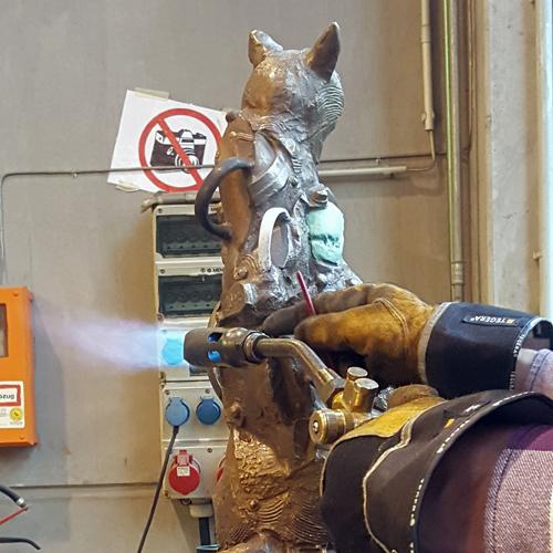 Gießerei Plastik Bildhauerei Bildhauer Keramik Raku