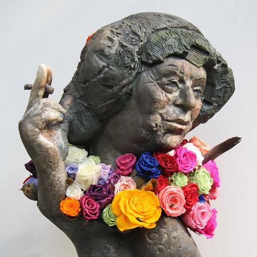 Portrait Plastik Bildhauerei Bildhauer Keramik Raku